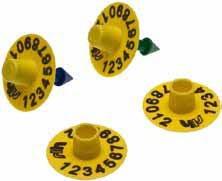 Вушна бірка MINI-NEOFLEX кругла, для поросят, свиней, овець і кіз, жовта